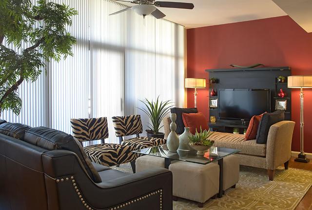 living room modern living room idea in dallas - Living Room Makeovers