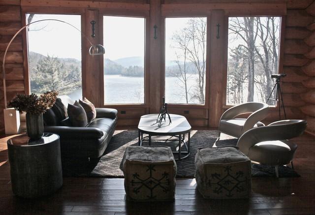 Lodge contemporary-living-room