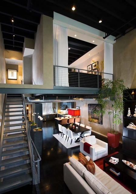 Loft Modern Living Room Orange County By Christopher James Interiors