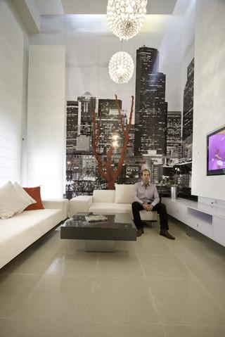 Loft in New York contemporaneo-salon