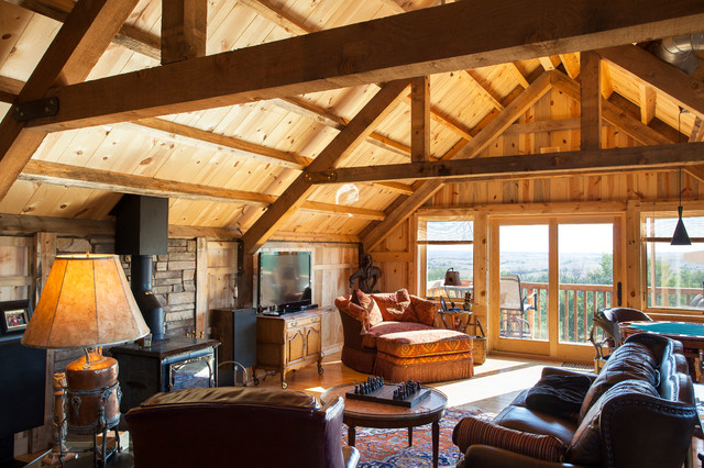loft living in a nebraska barn home traditional living room