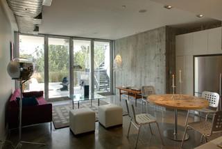 loft modern living room