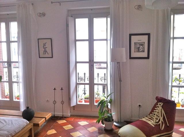 Loft Madrid eclectic-living-room