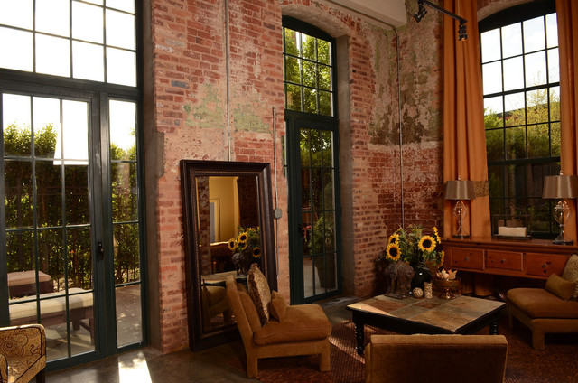 Lofts At Mills Mill Rustic Living Room Other Metro