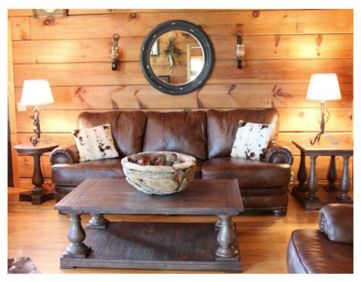 Log cabin makeover traditional living room other for Log living room
