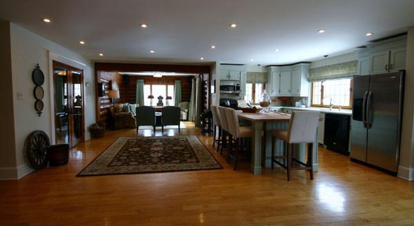 Log Home Living Room traditional-living-room