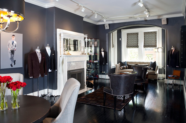 Logan Circle Menswear Suite traditional-living-room