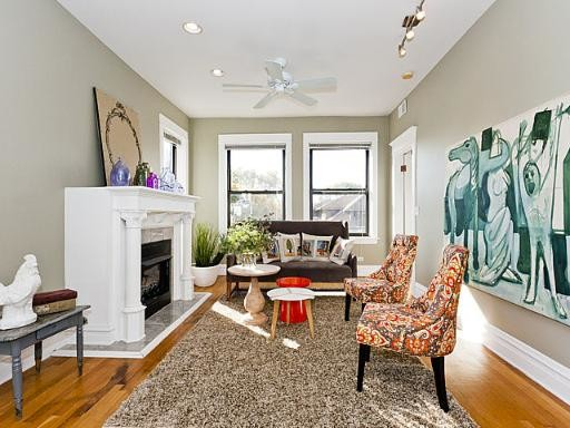 Logan Square contemporary-living-room