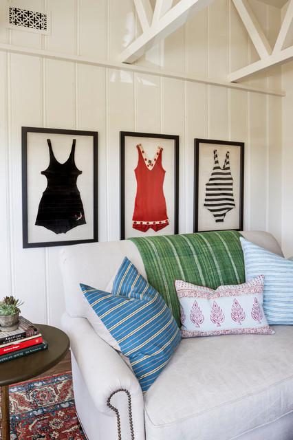 Lombardy Lane, Laguna Beach beach-style-living-room