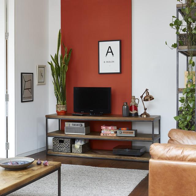 Lombok Kaleng Living Room Industrial Inspired Oak