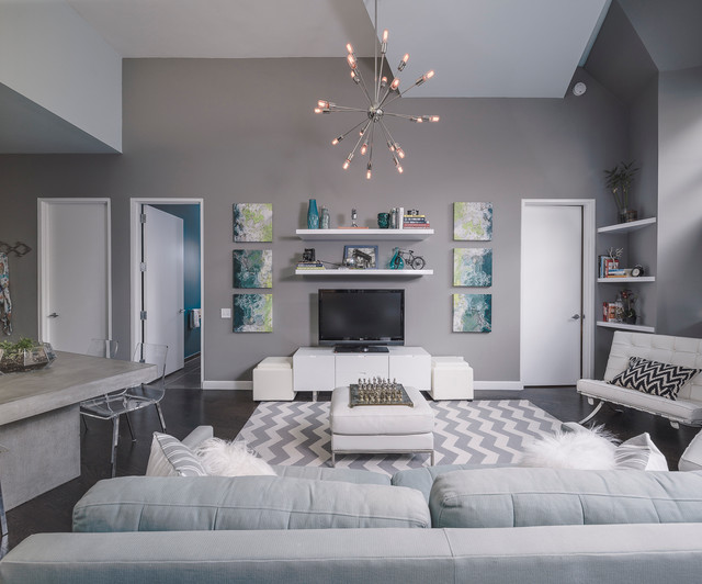 Long Island City Arris Lofts Contemporary Living Room New York By Jse Interior Design