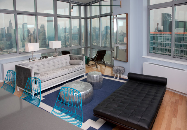 Long Island City, Penthouse contemporary-living-room