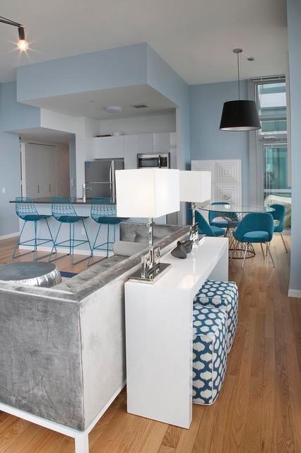 Long Island City, Penthouse contemporary-living-room