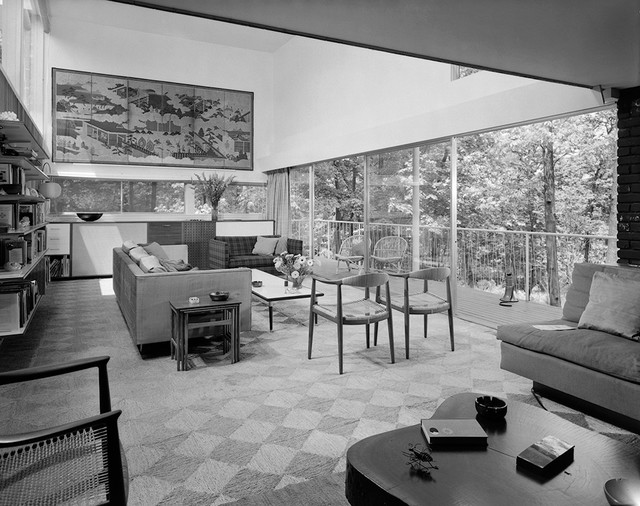 Living Room 1980 long island modernism 1930-1980 - modern - living room - new york