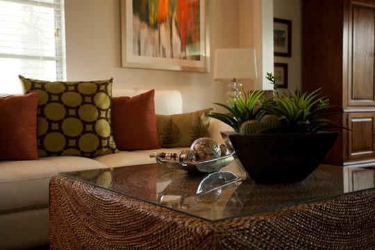 Longboat Key Condo contemporary-living-room