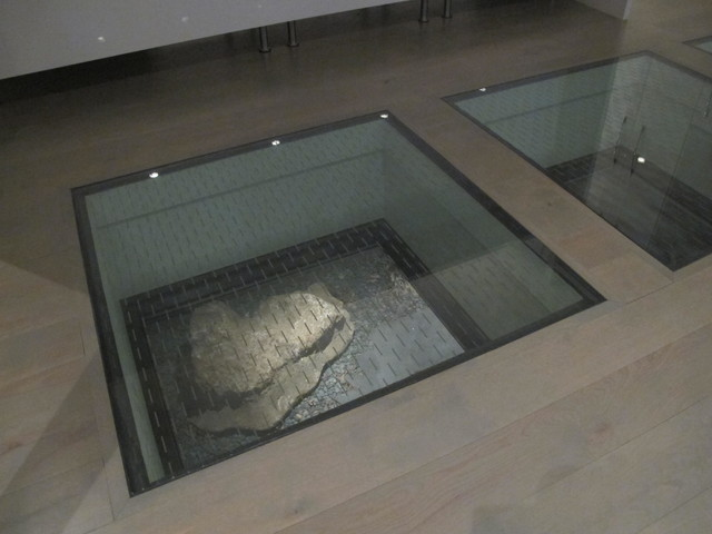 Structural glass floor panels gurus floor for Floor to ceiling glass panels