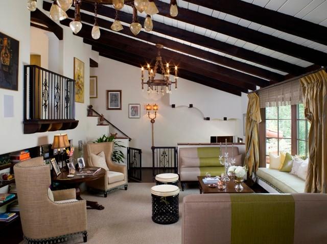 Lori dennis interior design mediterranean living room for Room 4 design leeds