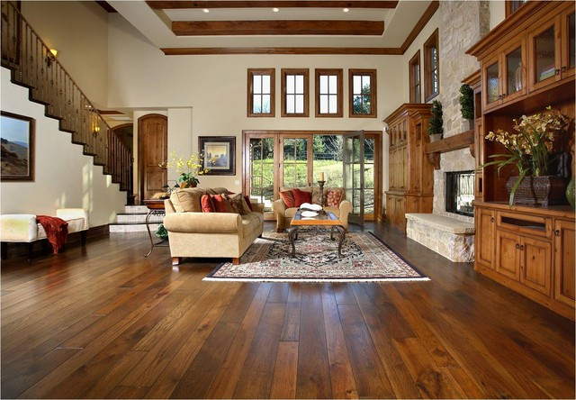 traditional living room by Amber Flooring