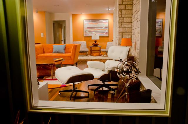 Los Altos Mid Century Modern Home midcentury-living-room