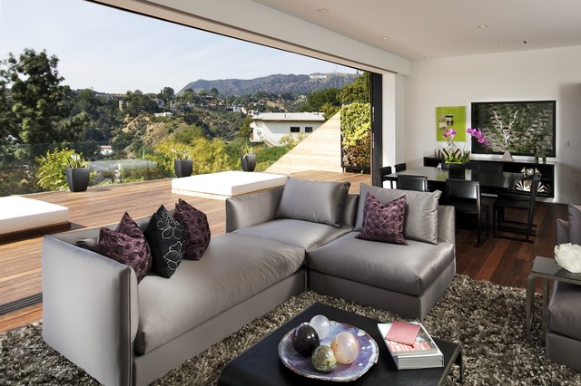 Los Angeles Hills Residence contemporary living room