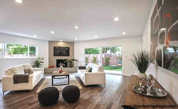 Los Angeles Vacant Home Staging Contemporary Ranch Style House In. Living  Room ... Part 31