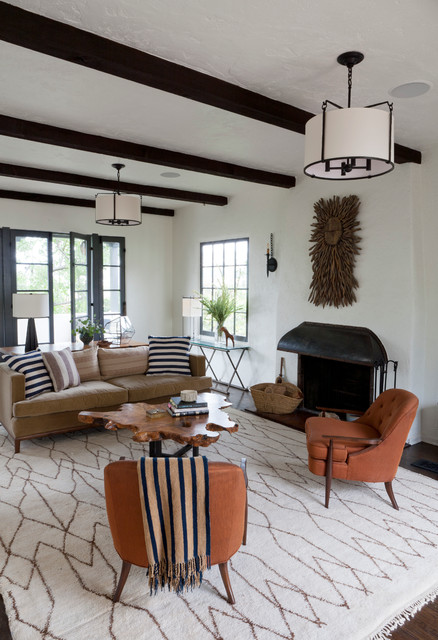 Los Feliz Hills Spanish Colonial Mediterranean Living Room Los Angeles By Disc Interiors