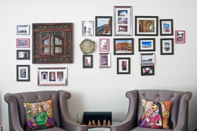 Lotus themed living room asian-living-room