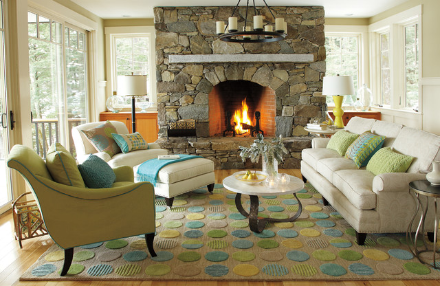 Lounge Lake Living Room - beach style - living room - boston - by ...