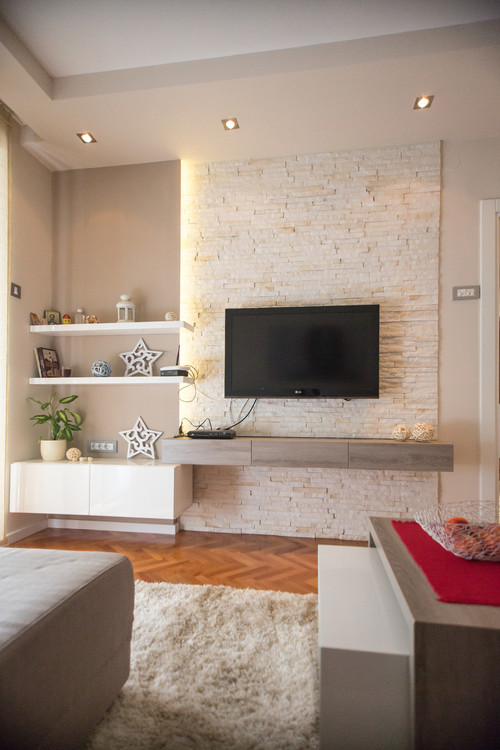 Tv wall on pinterest tv units tv walls and tv cabinets - Houzz wohnzimmer ...