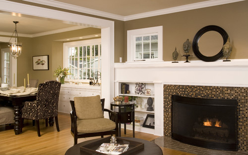 what is the name of the tile surronding the fireplace and on the ...