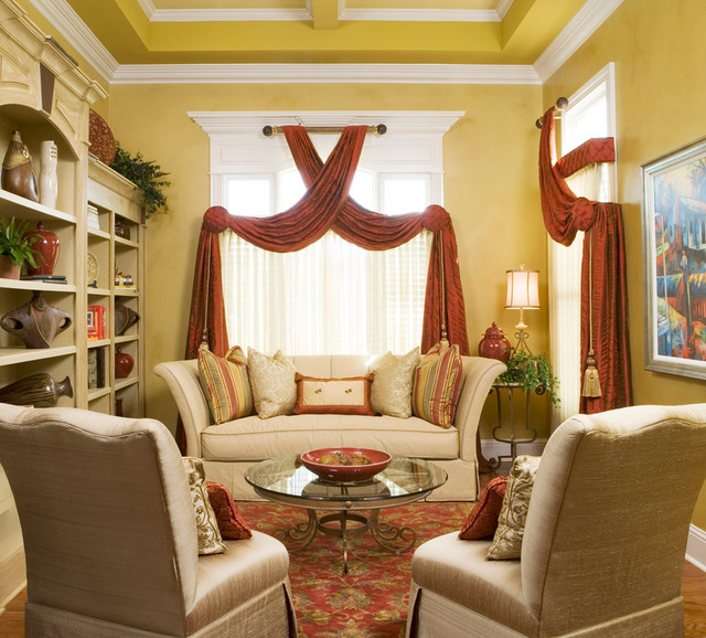 Lovely living rooms traditional living room atlanta for Decorating den interiors