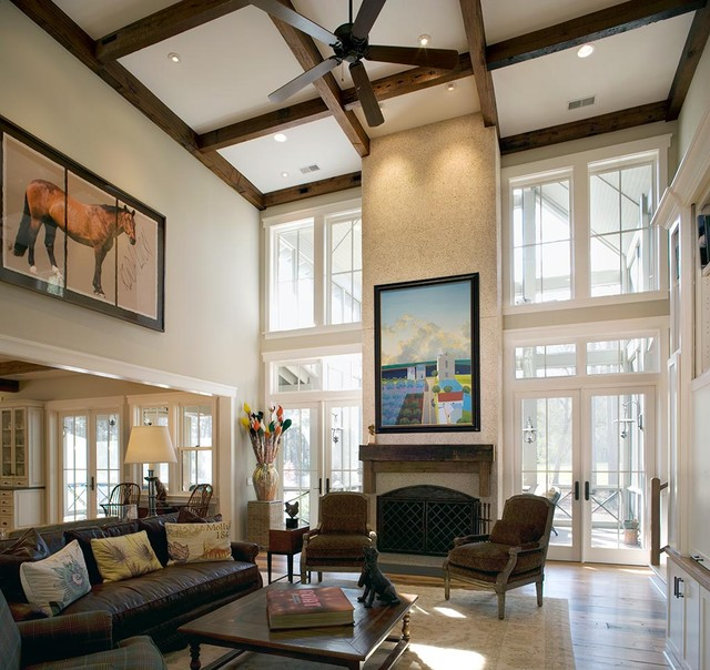 Lowcountry Residence rustic-living-room