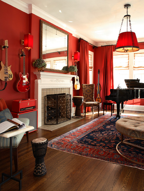 Lullwater eclectic living room other metro by for Music living room ideas