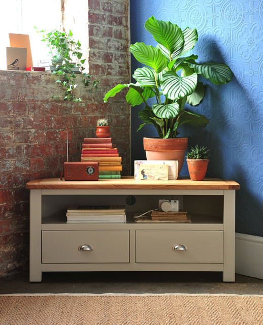 Lundy Painted Corner TV Unit Country Living Room Other By The Cotswol