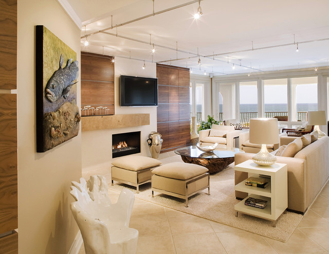 Luxe Condominium Contemporary Living Room
