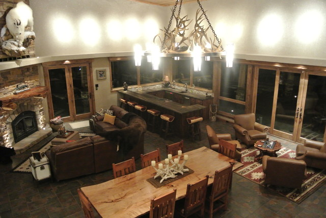 Luxe hunting lodge rustic living room other metro for Modern hive