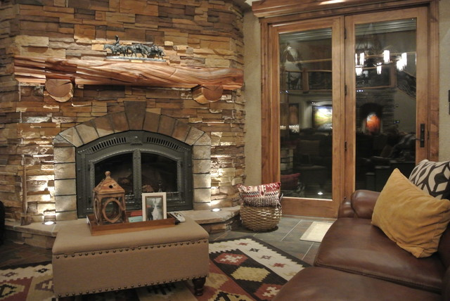 Luxe Hunting Lodge rustic-living-room