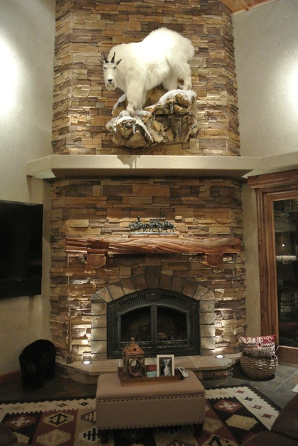 Luxe Hunting Lodge Rustic Living Room Other Metro