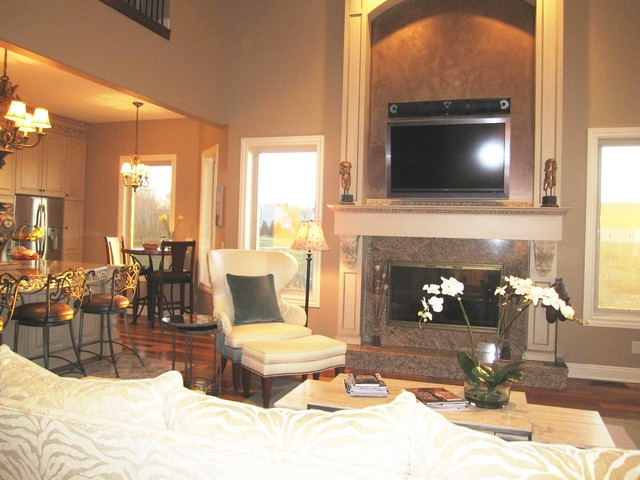 Luxe Lakefront Living traditional-living-room