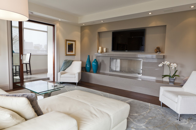 Luxurious Condo Living Room Contemporary Living Room Toronto By Biglarkinyan Design Planning Inc