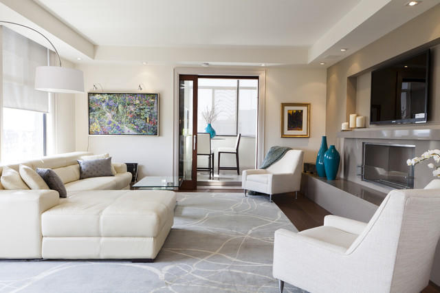 Luxurious Condo Living Room - Contemporary - Living Room - Toronto ...