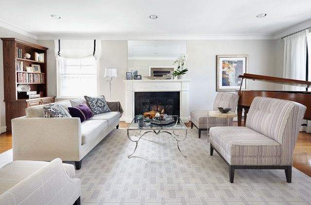 Luxurious living room view 1 for Salon classique chic
