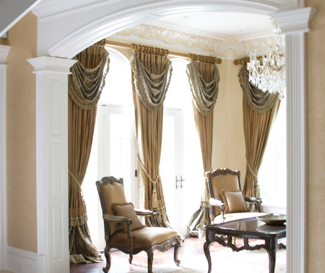 Luxury drapery panels in mequod wisconsin traditional Luxury window treatments