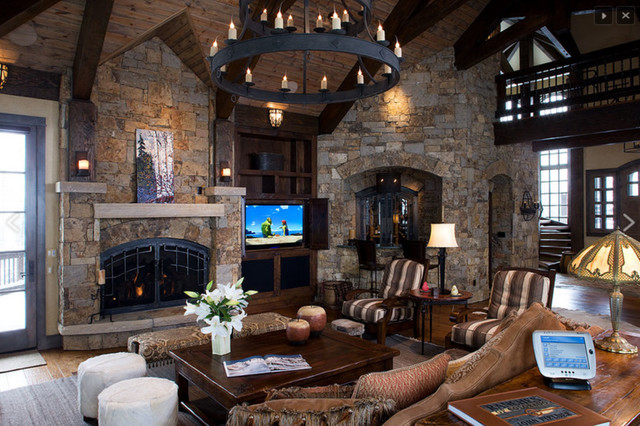 Luxury High Alpine Living Room Rustic Living Room