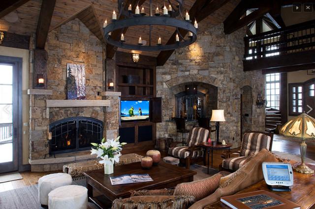 Luxury High Alpine Living Room Rustic Living Room