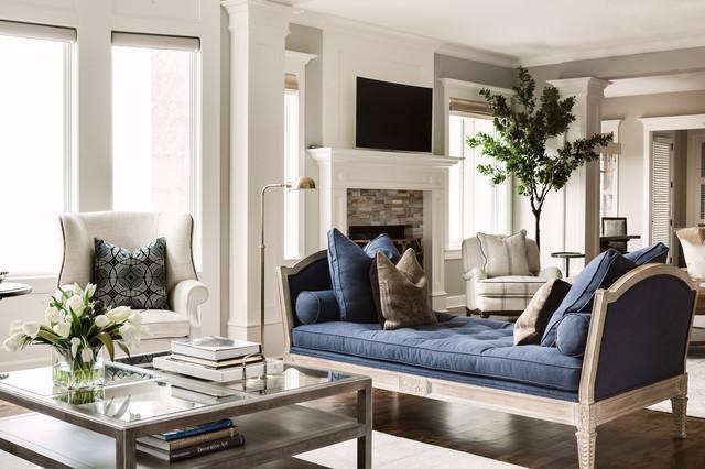Luxury home design for Salon classique chic