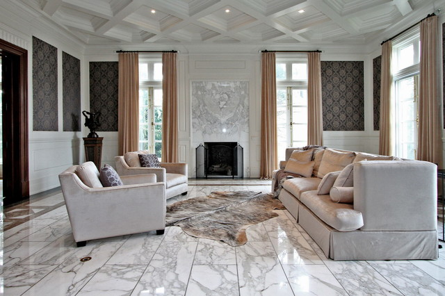 Luxury Home Staging   Modern Mansion Transitional Living Room