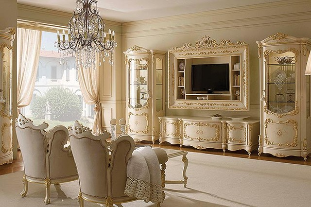Luxury Italian Living by Gimo - Traditional - Living Room - New York ...