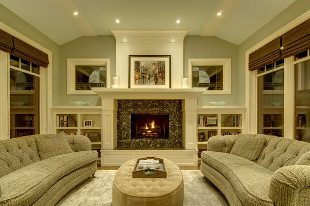 Luxury Living Traditional Living Room Calgary By Rockwood Custom Homes