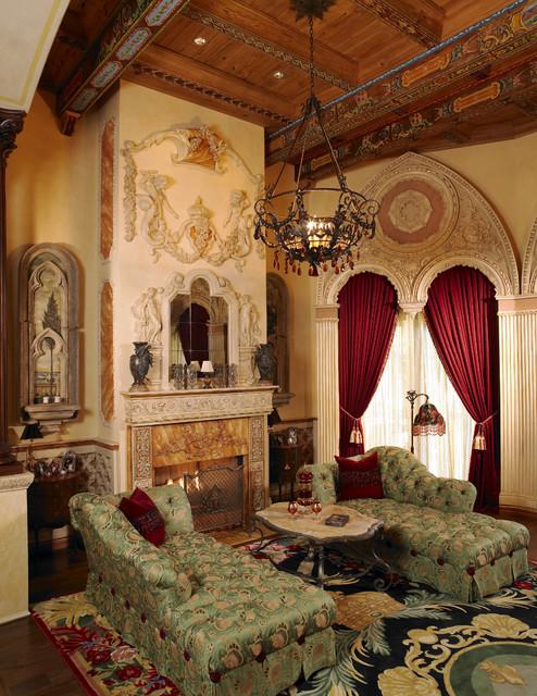 Luxury Living Room By Custom Home Builders Tampa Alvarez